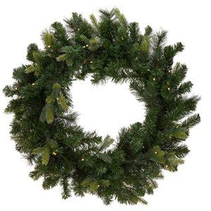 "26"" Green Wreath with 2-in-1 LED Lighting"